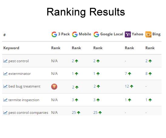 Keywords Ranking Result
