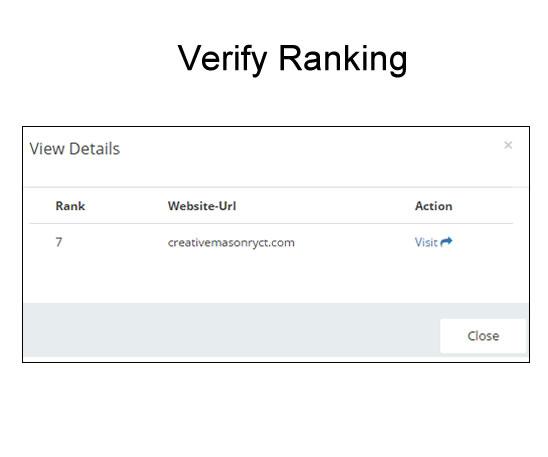 Verify Ranking