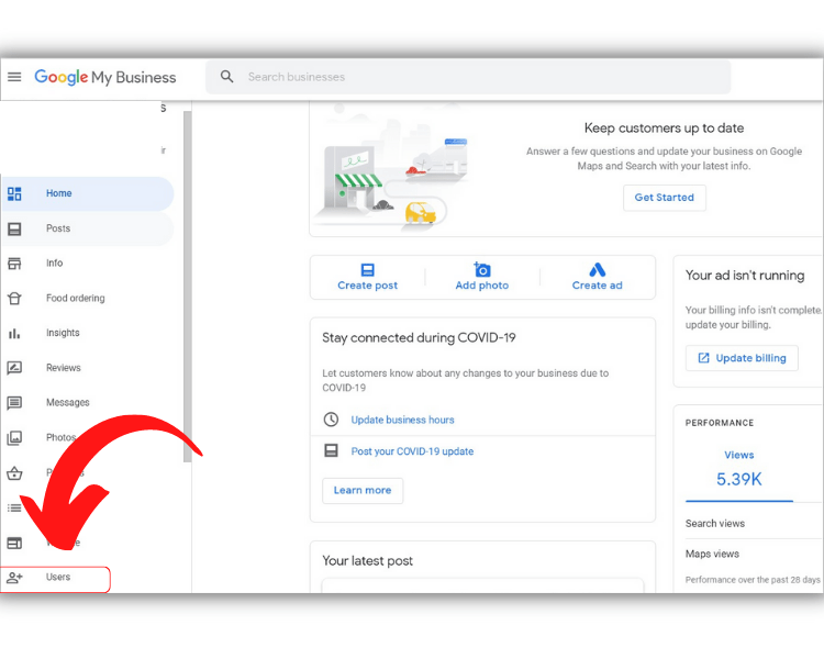 How to Add Users to Google My Business on desktop