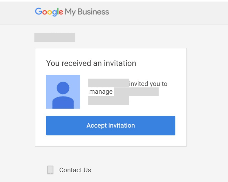 invitation for new users in google my business